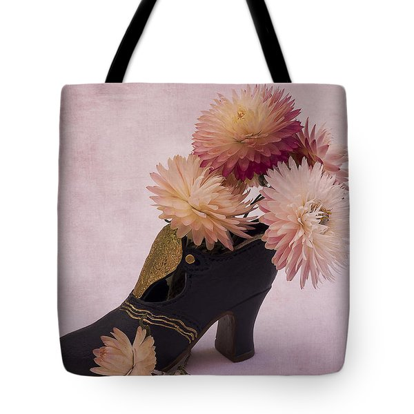 Tote Bag featuring the photograph Just One Shoe by Sandra Foster