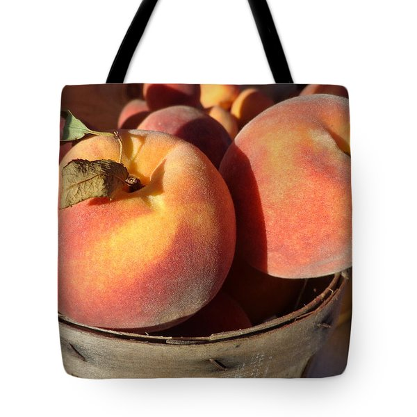 Just Peachy Tote Bag by Joseph Skompski