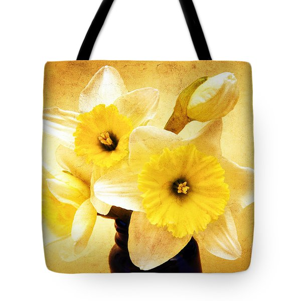 Just Plain Daffy 1 - Flora - Spring - Daffodil - Narcissus - Jonquil Tote Bag by Andee Design