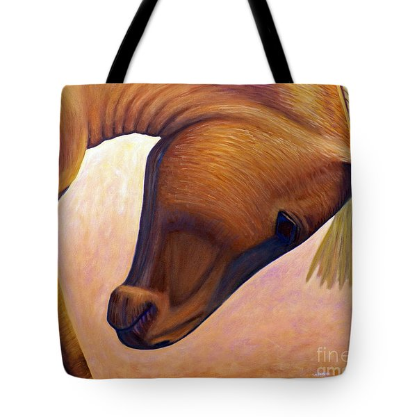 Just Plain Horse Sense Tote Bag by Brian  Commerford