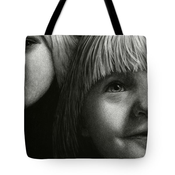 Tote Bag featuring the drawing Just Playing by Sandra LaFaut