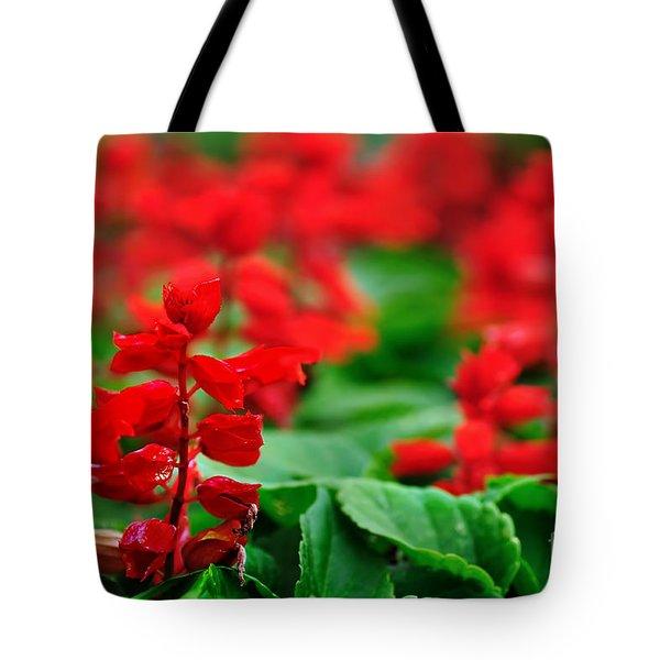 Just Red Tote Bag by Kaye Menner
