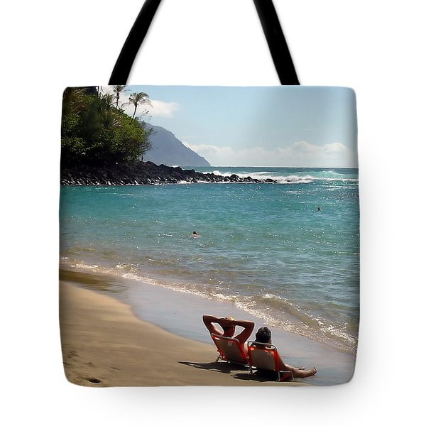 Just Relaxin' Tote Bag by John Bushnell