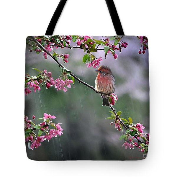 Tote Bag featuring the photograph Just Singing In The Rain by Nava Thompson