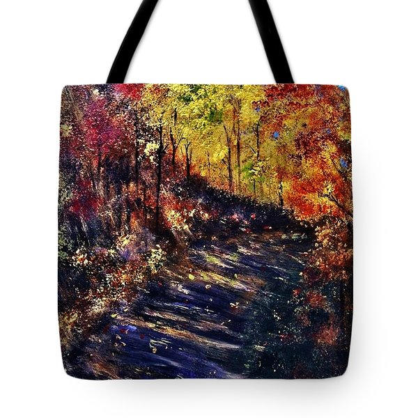 Tote Bag featuring the painting Just The Sound Of The Forest... by Cristina Mihailescu