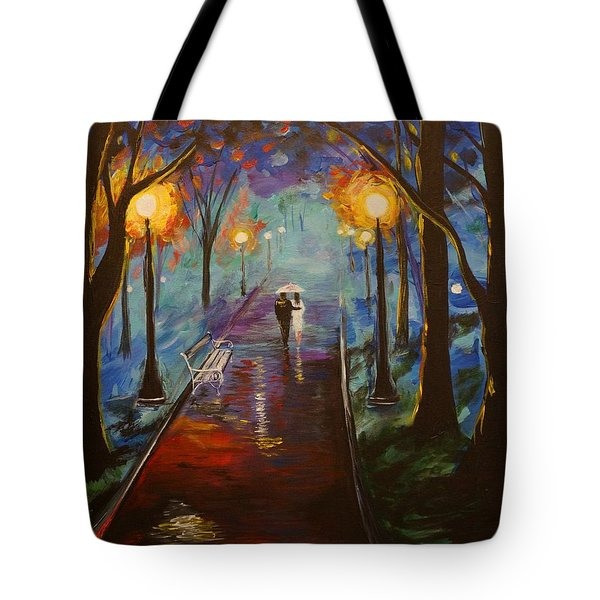 Just The Two Of Us Tote Bag by Leslie Allen