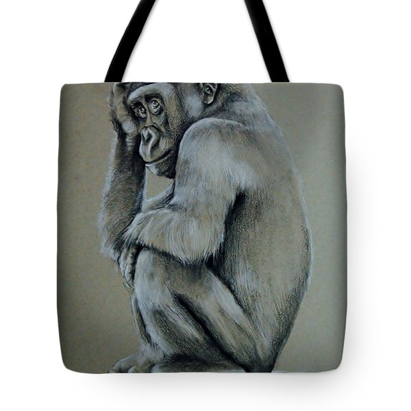 Just Thinking Tote Bag by Jean Cormier