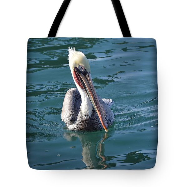 Tote Bag featuring the photograph Just Wading by Laurie L
