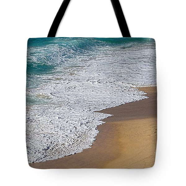 Just Waves And Sand By Kaye Menner Tote Bag