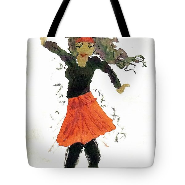 Just Zumba Tote Bag by Lesley Fletcher