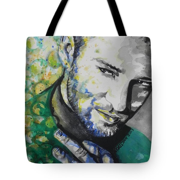 Justin Timberlake...01 Tote Bag by Chrisann Ellis