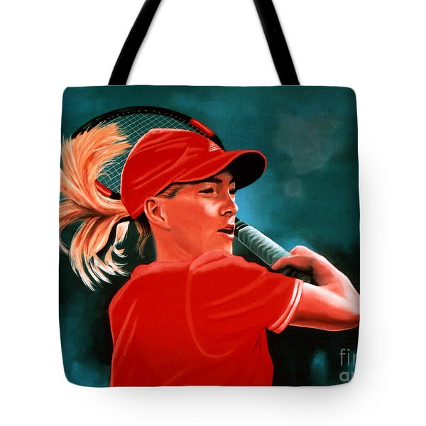 Justine Henin  Tote Bag