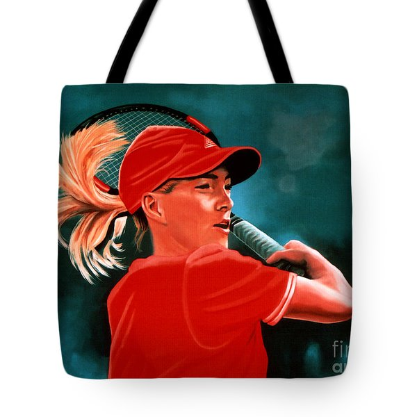 Justine Henin  Tote Bag by Paul Meijering
