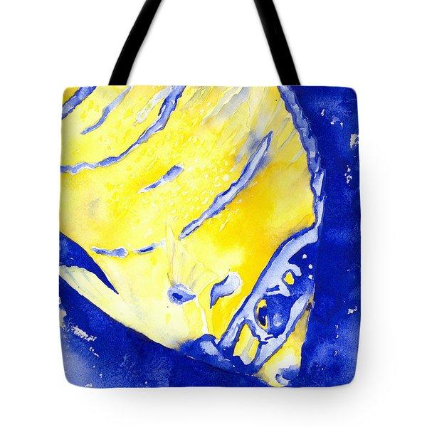 Juvenile Queen Angelfish Tote Bag