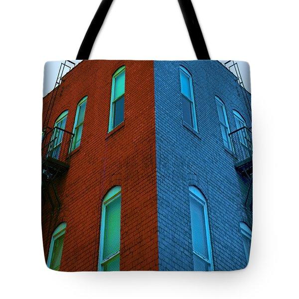 Juxtaposition - Old Building Tote Bag