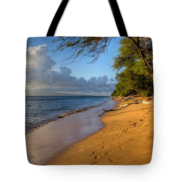 Kaanapali Beach Stroll Tote Bag by Heidi Smith