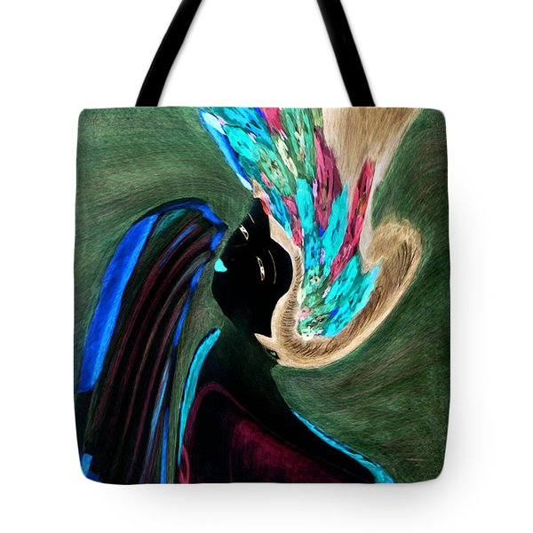 Tote Bag featuring the painting Kabuki Theatre Gone Wild by Paula Ayers