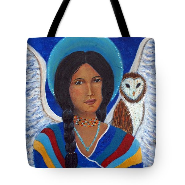 Kachina A Hopi Earthangel Tote Bag by The Art With A Heart By Charlotte Phillips