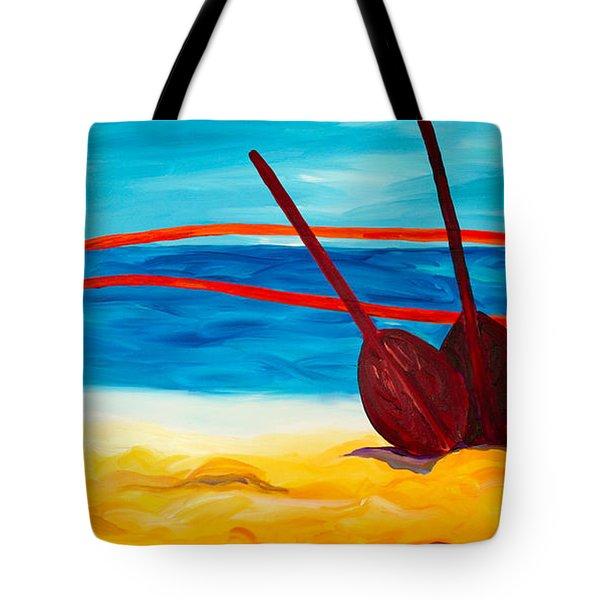 Kaeti's Canoe Tote Bag by Beth Cooper