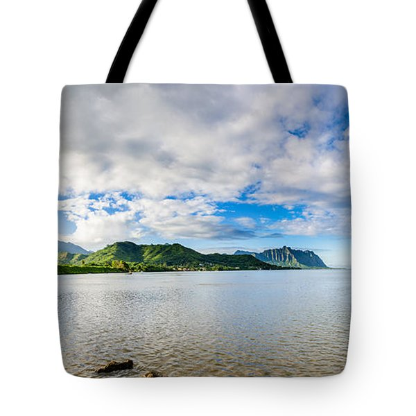 Kahaluu Fish Pond Panorama Tote Bag