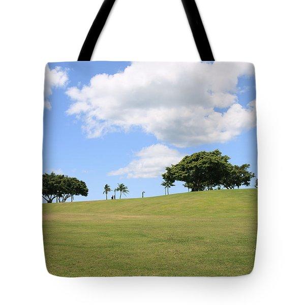 Kakaako Park Tote Bag by Brandon Tabiolo