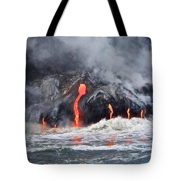 Lava Falls At Kalapana Tote Bag