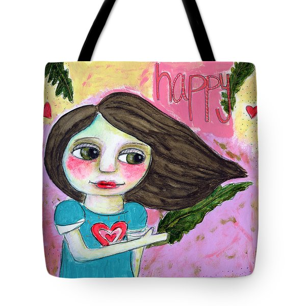 Kale Makes Me Happy Tote Bag