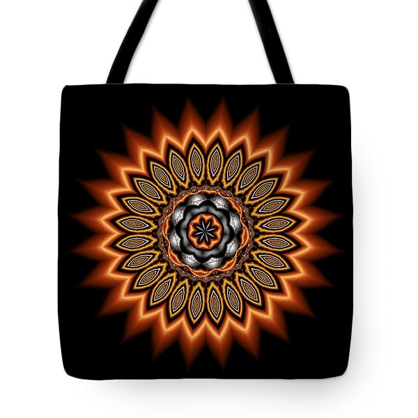 kaleidoscope 1 in Precious Metals Tote Bag by Faye Symons