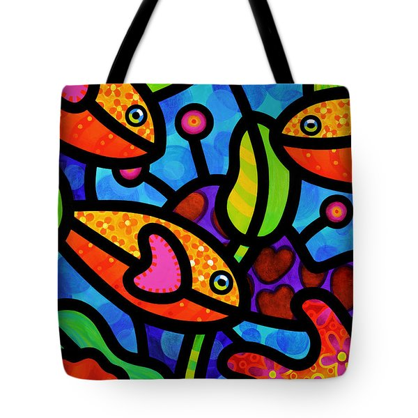 Kaleidoscope Reef Tote Bag