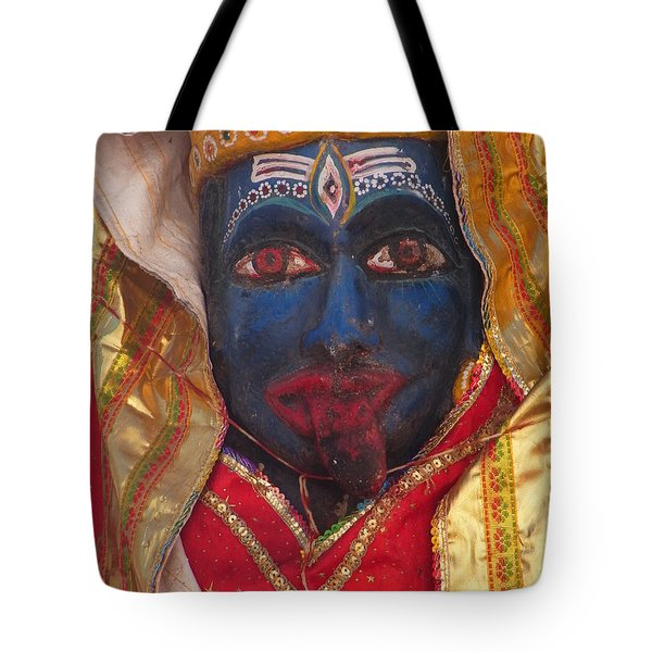 Kali Maa - Glance Of Compassion Tote Bag by Agnieszka Ledwon