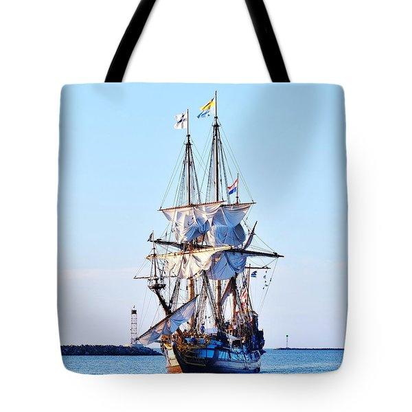 Kalmar Nyckel Tall Ship Tote Bag