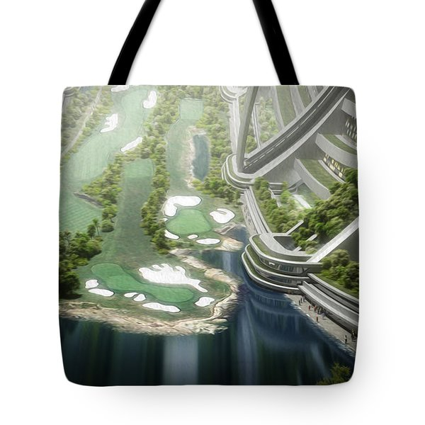 Kalpana One Golf Course Tote Bag by Bryan Versteeg