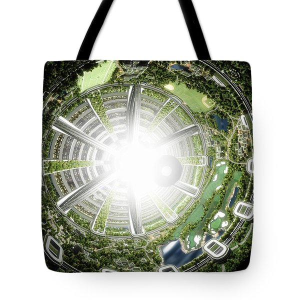 Kalpana One Space Station Section Tote Bag by Bryan Versteeg
