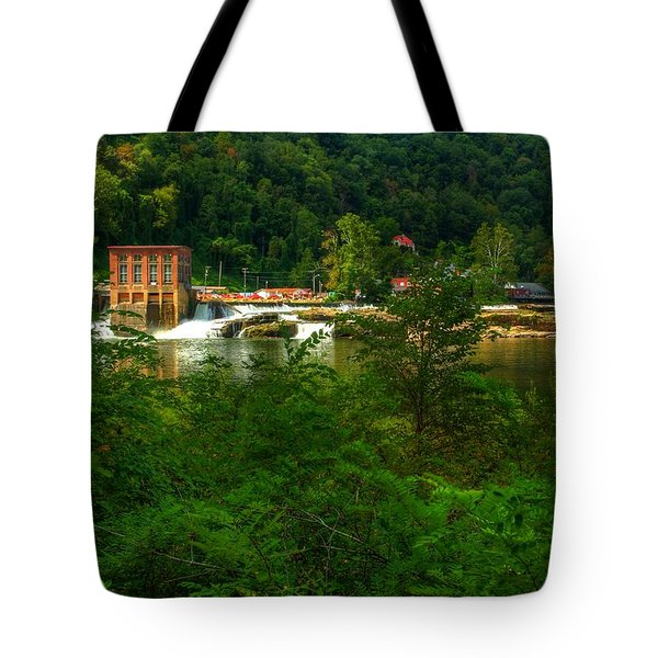 Kanawha Falls Tote Bag by Dave Files