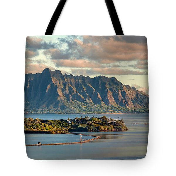 Kaneohe Bay Panorama Mural 2 Of 5 Tote Bag