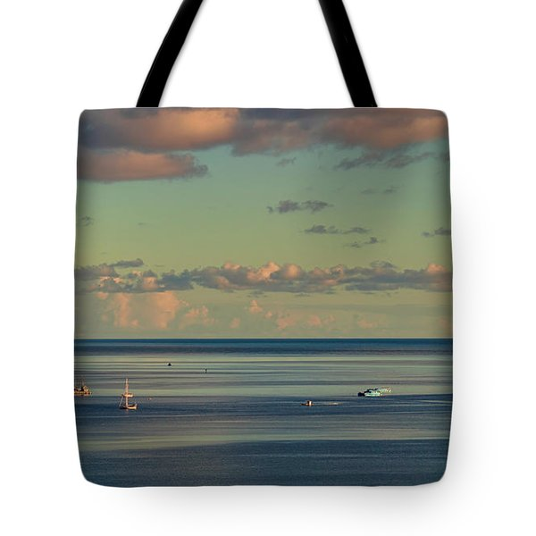 Kaneohe Bay Panorama Mural 4 Of 5 Tote Bag
