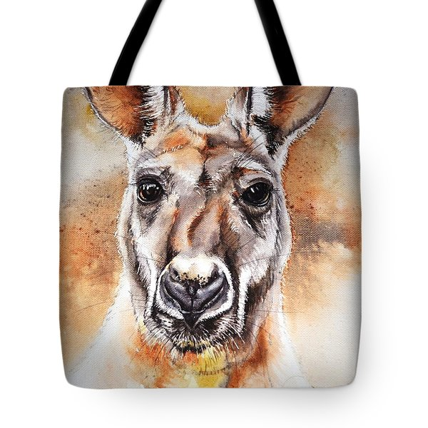 Kangaroo Big Red Tote Bag