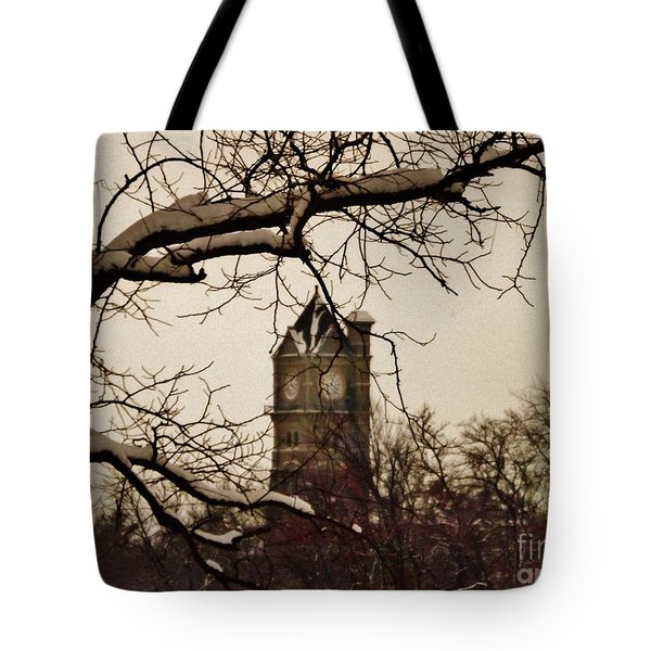 Kankakee Clock Tower Tote Bag