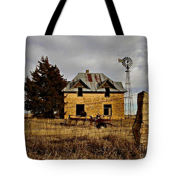 Tote Bag featuring the photograph Kansas Castle 1 by Lynne Wright