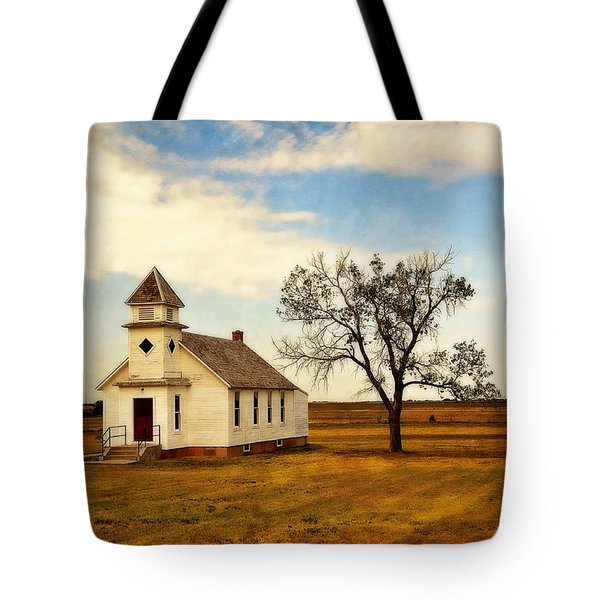 Kansas Church Tote Bag by Marty Koch