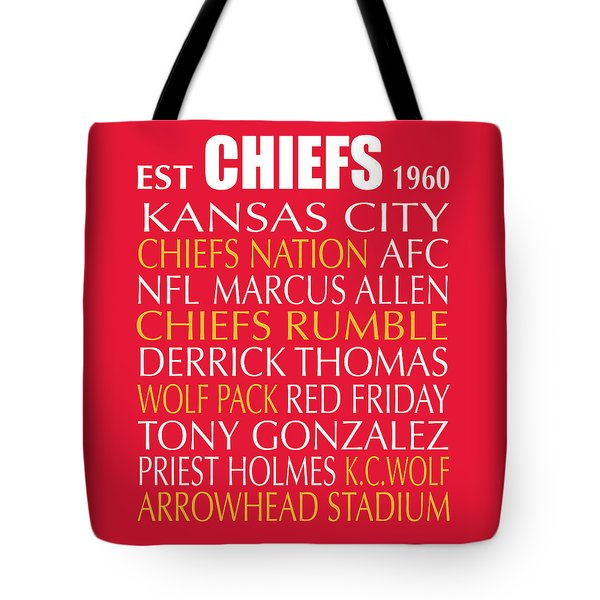 Tote Bag featuring the digital art Kansas City Chiefs by Jaime Friedman