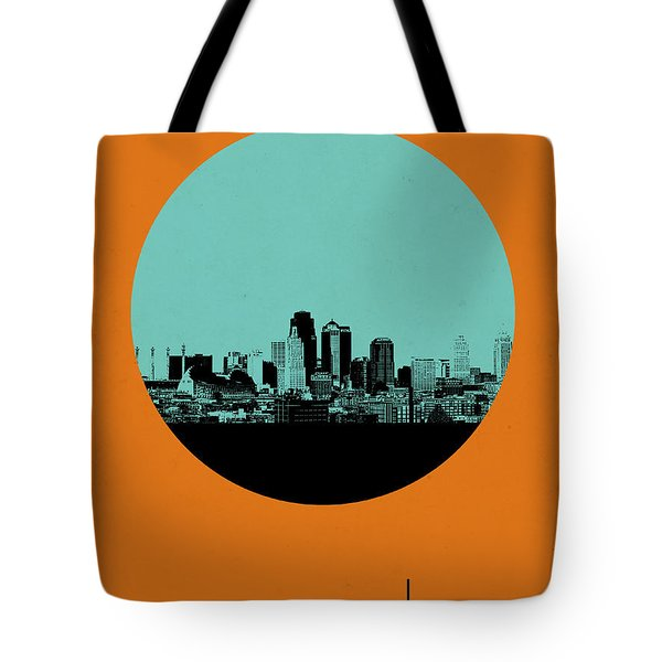Kansas City Circle Poster 1 Tote Bag