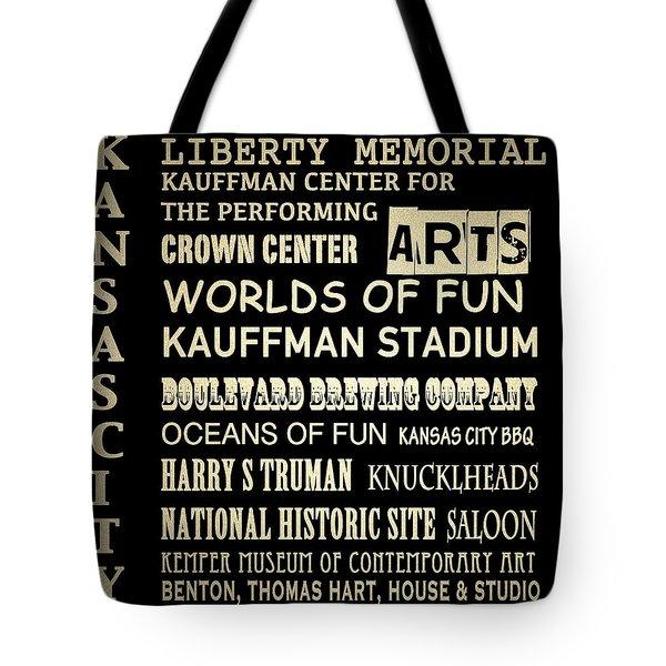 Kansas City Famous Landmarks Tote Bag