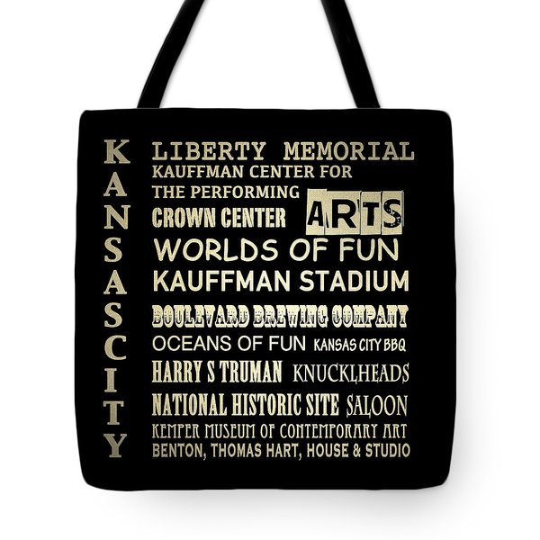 Kansas City Famous Landmarks Tote Bag