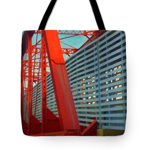 Kansas City Train Bridge - Pencoyd Railroad Bridge  Tote Bag