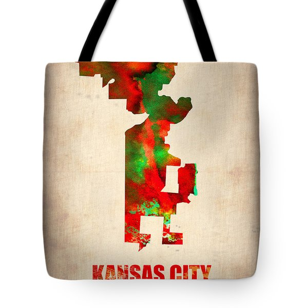 Kansas City Watercolor Map Tote Bag