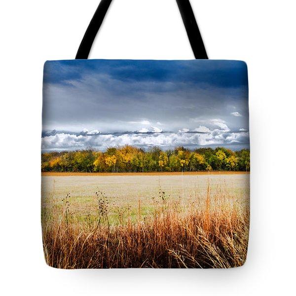 Kansas Fall Landscape Tote Bag
