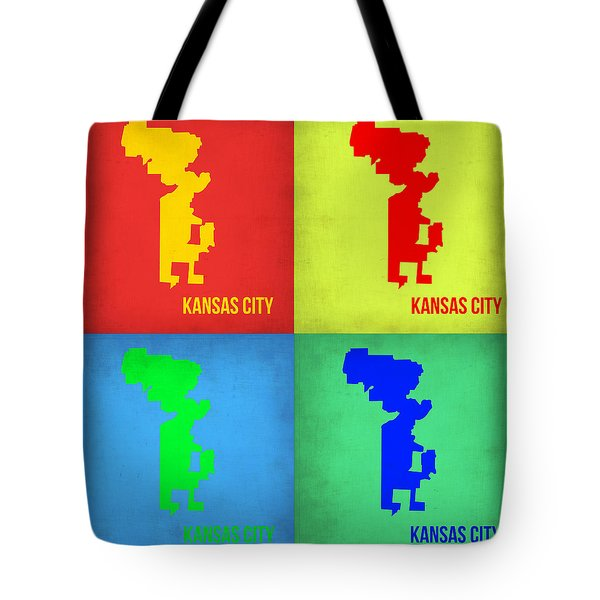Kansas Pop Art Map 1 Tote Bag
