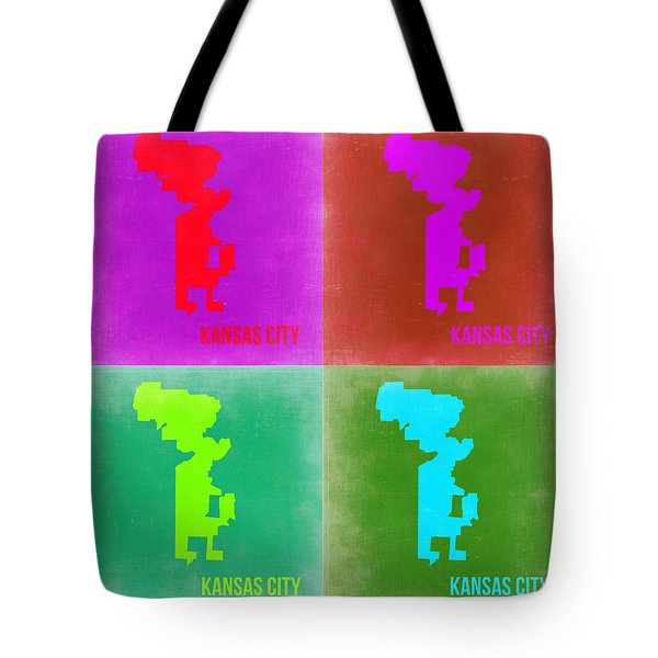 Kansas Pop Art Map 2 Tote Bag