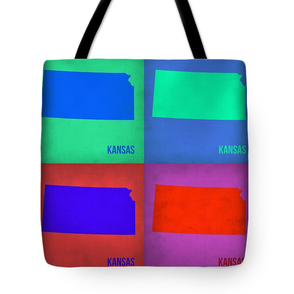 Kansas Pop Art Map 3 Tote Bag